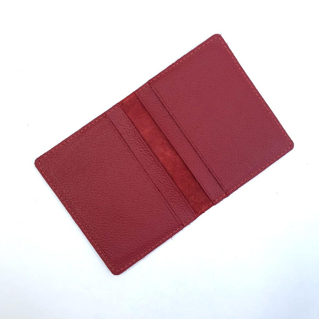 [ Da Saffiano] Ví da thời trang namecard kiểu đứng – CM025 - BH 12 tháng