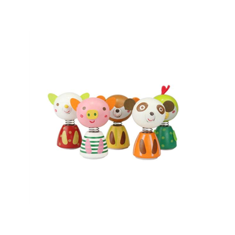 Home 1pcs Animal Model Building Doll Figurines Mini Spring Shaking Head Kid Gift