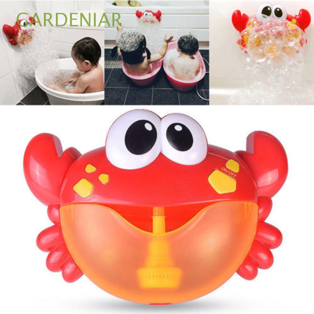 Educational Automated Spout Poll Swimming Soap Kids Christmas Gift Crab Bubble Machine