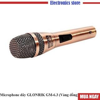 Microphone dây GLONRIK GM-6.3 (Vàng đồng)