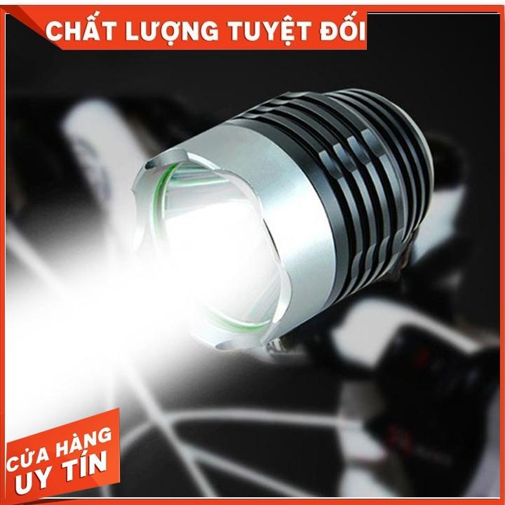 Đèn led xe đạp 3 chế độ kiêm đèn pin siêu sáng chống nước