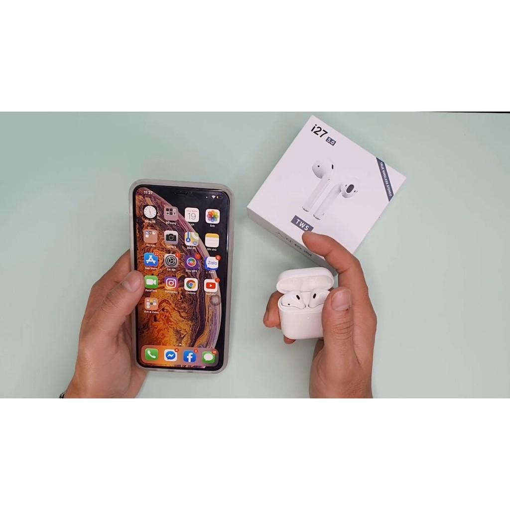 Tai Nghe i27 TWS Bluetooth Không Dây - Tặng Case Airpods Tương Thích IOS, Android Mới Nhất 2019