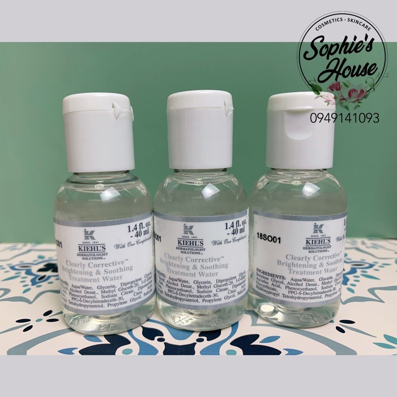 [40ML] Nước Thần Kiehls Clearly Corrective™ Brightening Soothing Treatment Water