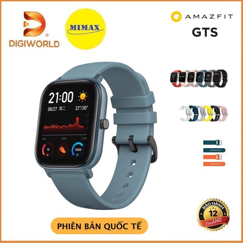 Đồng Hồ Thông Minh Xiaomi Amazfit GTS 2019 Global - Hàng Chính Hãng - Bản Quốc Tế - Phân Phối Bởi Digi