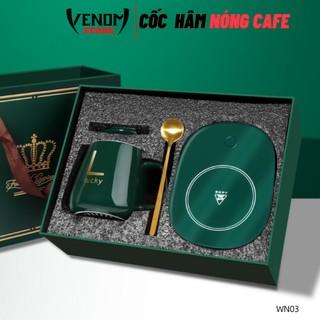 Cốc Hâm Nóng đồ uống kèm đế điện tặng kèm thìa vàng,hộp sang trọng,Đế điện hâm nóng trà,cafe,sữa trên mọi chất liệu