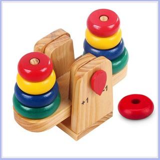 Cân xếp tháp gỗ toán học cho bé- Phát triển tư duy cho bé – Mới về