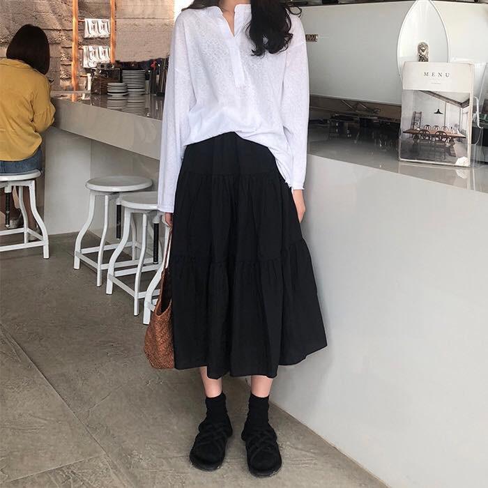 Chân Váy Vintage Nữ 🦋 Váy Voan Nữ Dáng Dài 2 Lớp Siêu Xinh 2 màu 🦋