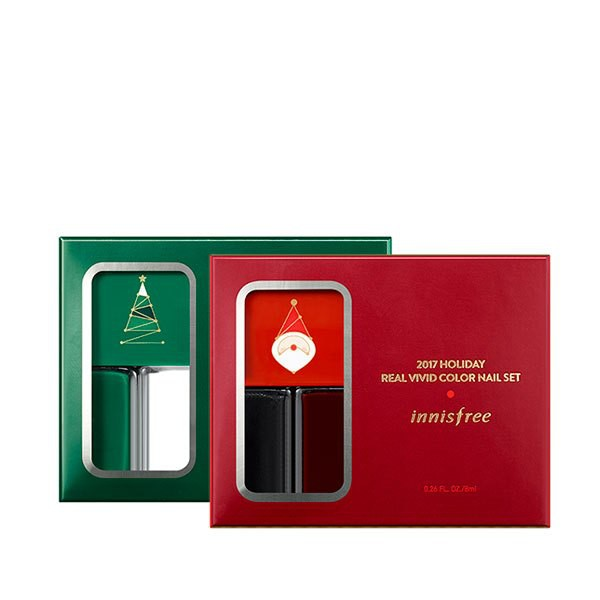 Set Sơn Móng Tay Innisfree Holiday Real Vivid Color Nail Set