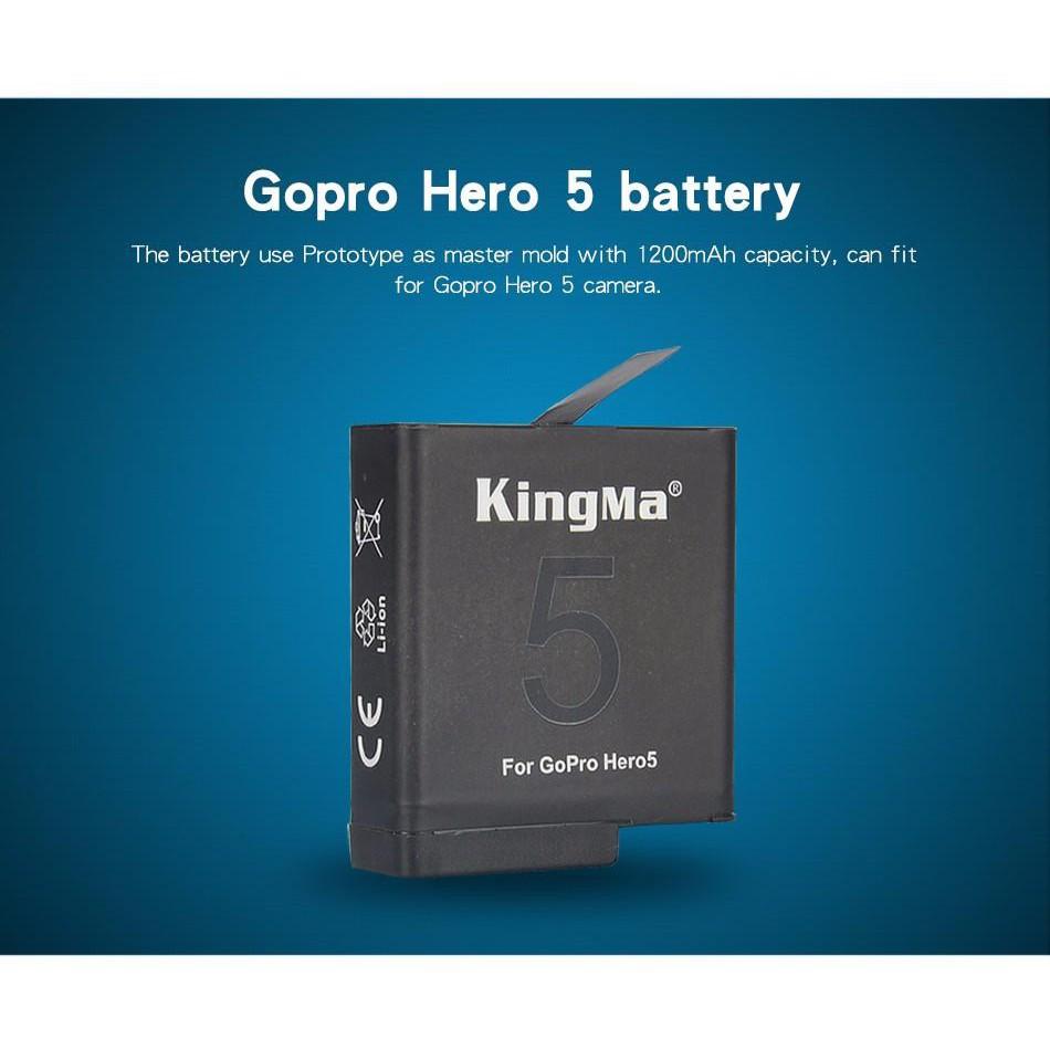 pin zin kingma cho camera hành trình gopro hero 5, hero 6,