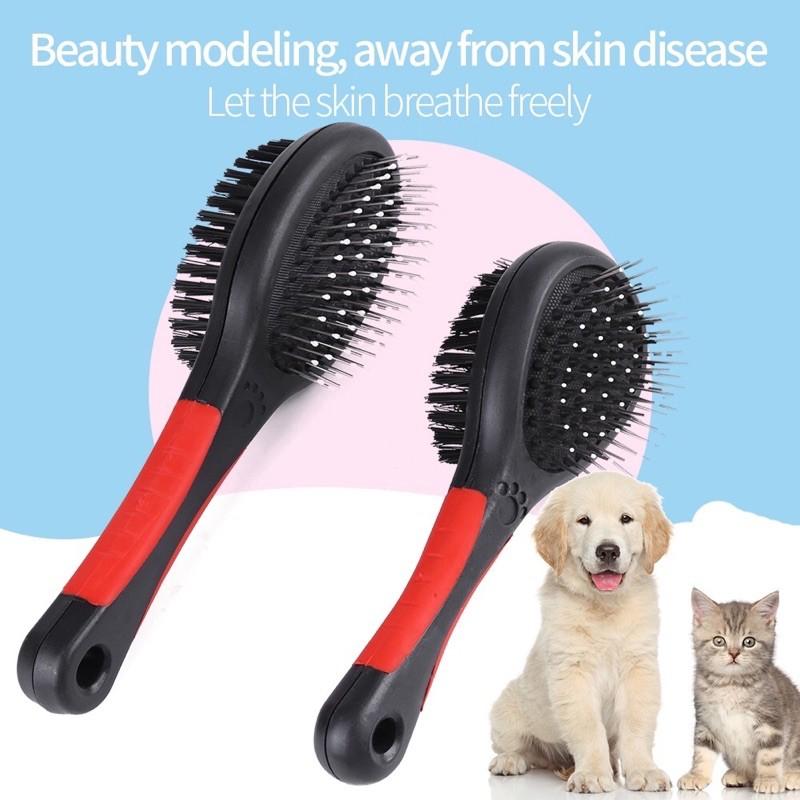 [Mã 267FMCGSALE giảm 8% đơn 500K] Lược chải lông chó mèo 2 đầu