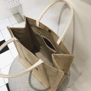 Túi xách cói Merci phong cách Vintage