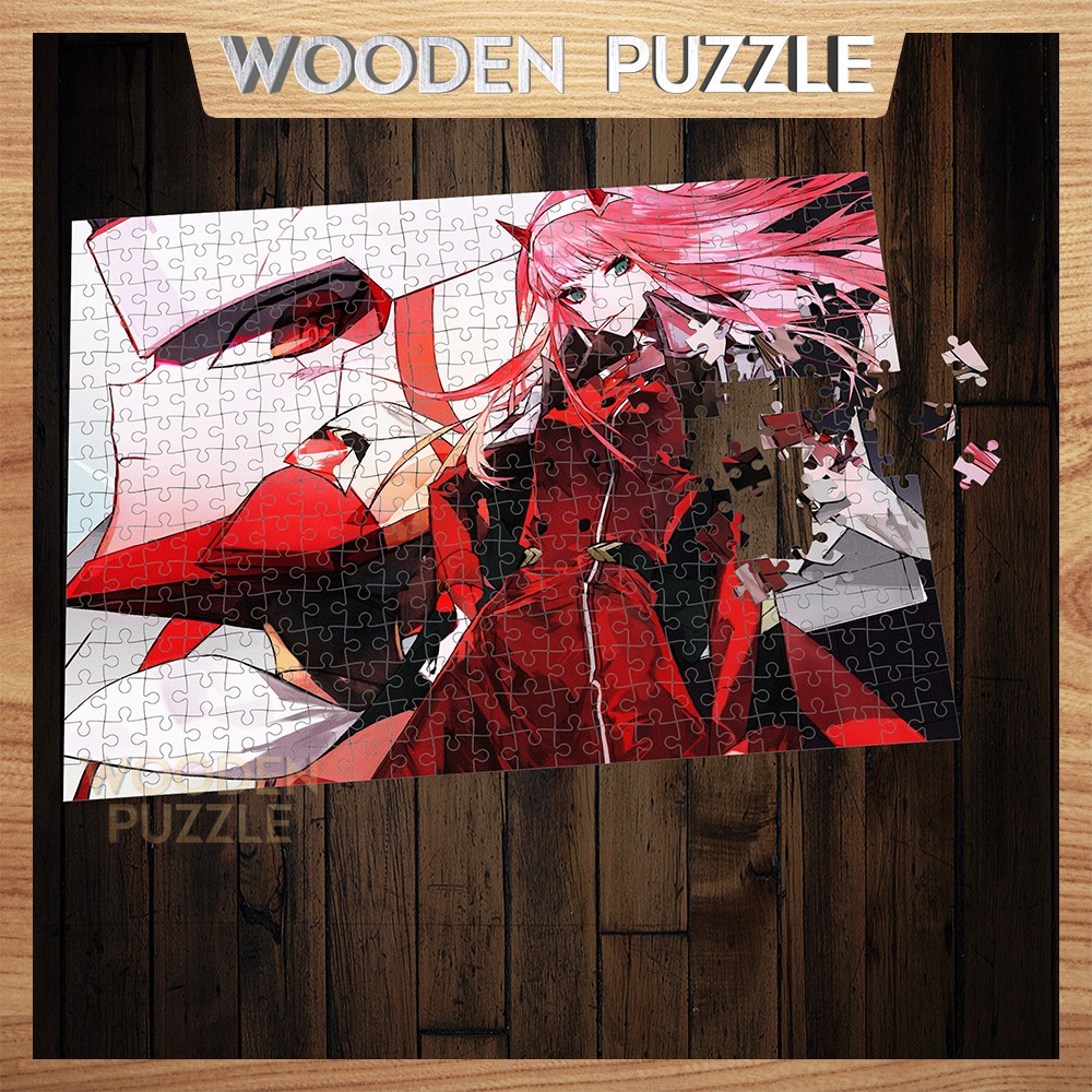 [MADE IN VIET NAM] Tranh xếp hình bằng gỗ zero two 300 – 500 mảnh ghép cho nhiều lứa tuổi,tranh ghép hình WP130
