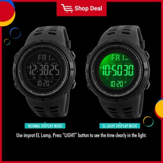 Đồng hồ nam LED nhập khẩu chống nước kỹ thuật số thể thao 1251