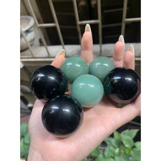 Combo 6 quả cầu onyx đen và cầu aventurine