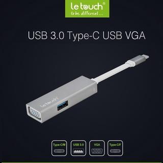 [Hàng Chính Hãng] Cáp Chuyển Đổi Cổng LE TOUCH USB 3.0 TYPE-C VGA Hub with Power Delivery thumbnail