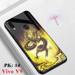 [Freeship] Ốp lưng điện thoại VIVO V9 in hoa 3D chống trầy xước, op vivo v9 ,vỏ case, Kính Full Màn hình 9D siêu cứng thumbnail