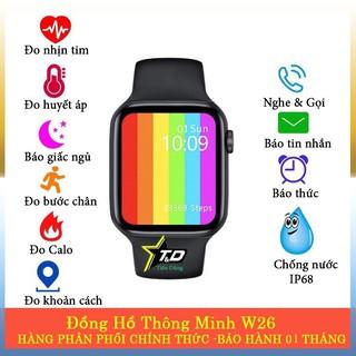 Watch 6 - Đồng Hồ Thông Minh Watch 6 Seri 6 (W26) - Màn Hình Tràn Viền - Theo dõi sức khoẻ - Chống nước - Nghe gọi Được