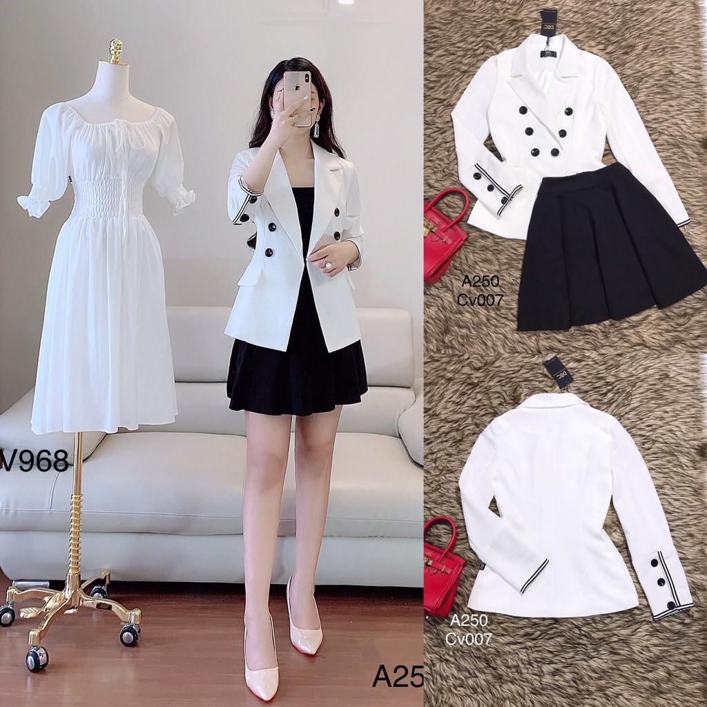 Áo vest trắng A250 - Đẹp Shop DVC (Kèm ảnh thật trải sàn do shop tự chụp)(Lưu ý:Mẫu chỉ bán áo)
