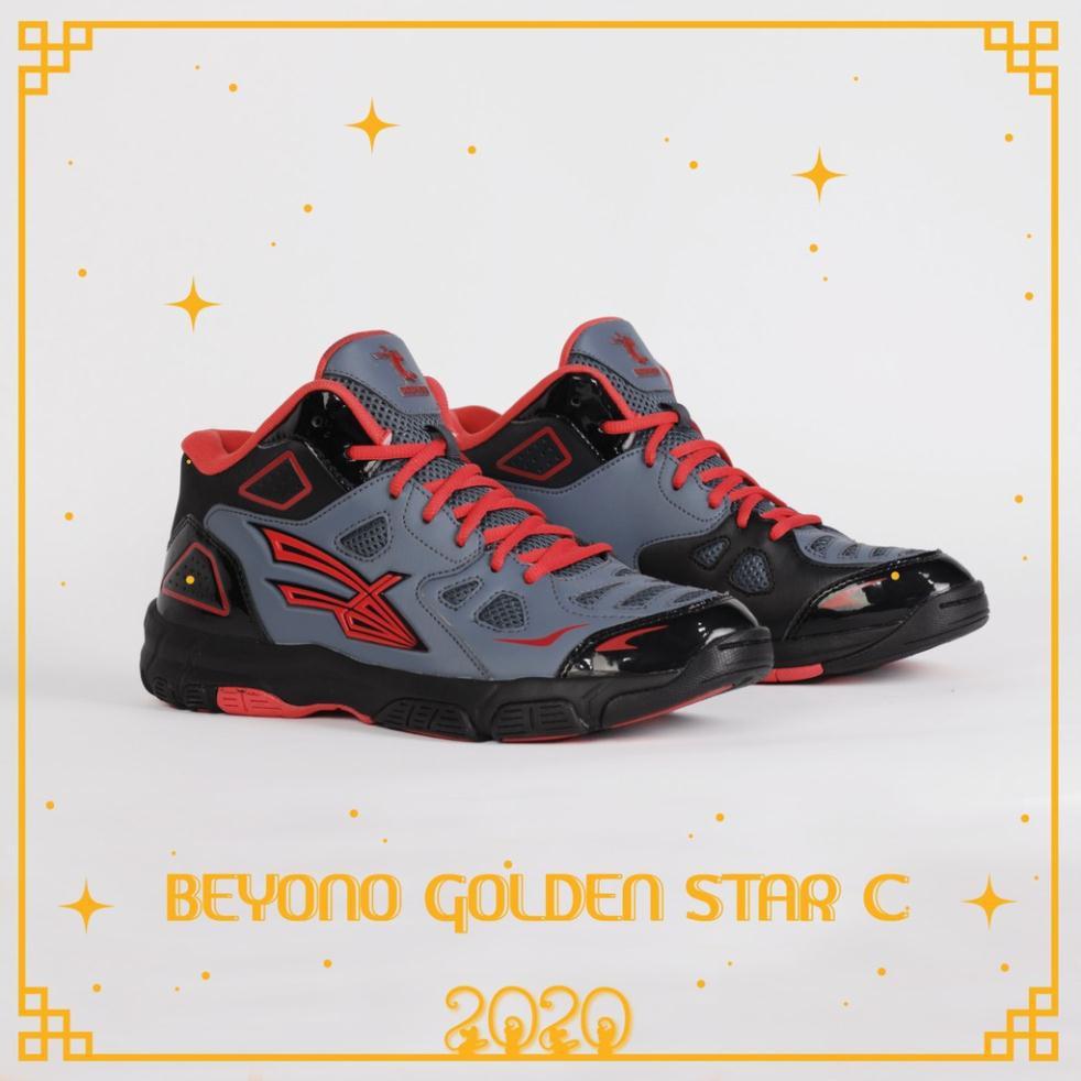 Sale 12/12 - GIÀY BÓNG CHUYỀN BEYONO GOLDEN STAR C - BLACK GREY - A12d ¹ NEW hot ‣ * :