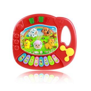 Đồ chơi đàn piano điện chủ đề nông trại hình con vật gần gũi cầm tay cho bé