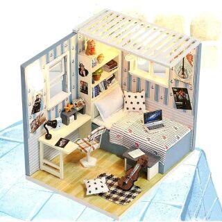 Mô hình nhà gỗ búp bê dollhouse DIY – M007B Bart's Home