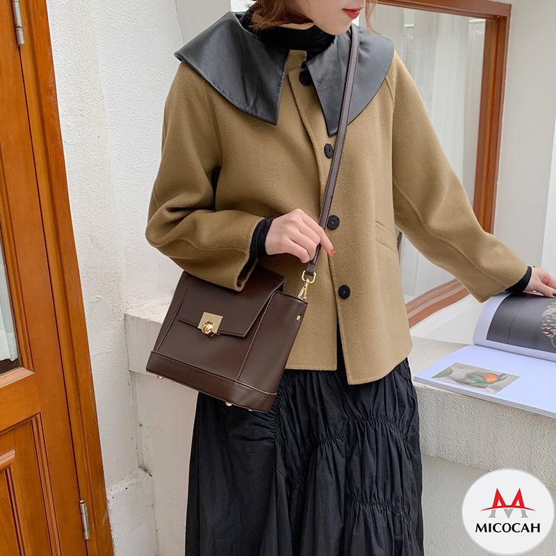 Túi Xách Đeo Chéo Nữ Kẹp Nách Chính Hãng MICOCAH Dáng Công Sở Thời Trang Phối Màu Vintage Siêu Đẹp MC76 - Micocah Mall