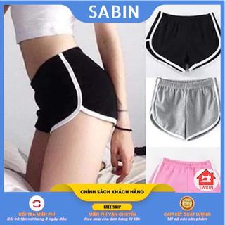 [BÁN SỈ] Quần đùi nữ thun thể thao tập gym mặc nhà [FREE SIZE DƯỚI 70KG] chất dày dặn – Quần short nữ SABI SHOP