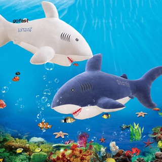 40/50cm Cute Simulated Shark Fish Plush Toy Soft Stuffed Doll Pillow Cushion