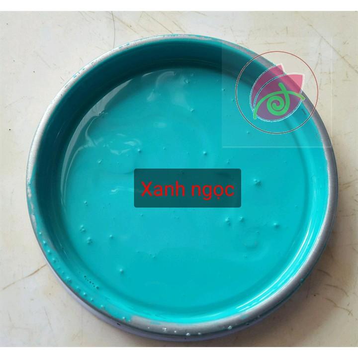 Sơn chậu kiểng màu xanh ngọc 1K Yes  - Lon 400g hoặc 800g
