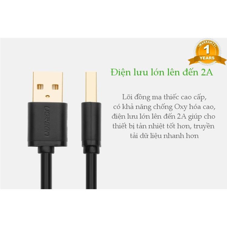 Cáp USB 2.0 UGREEN 10308 Hai Đầu Đực Dài 0.5m - Hàng Chính Hãng