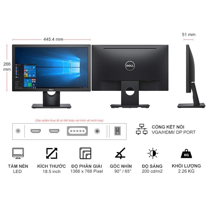 Màn hình Màn hình LED Dell E1916HV 18.5 inch hàng chính hãng bảo hành toàn quốc