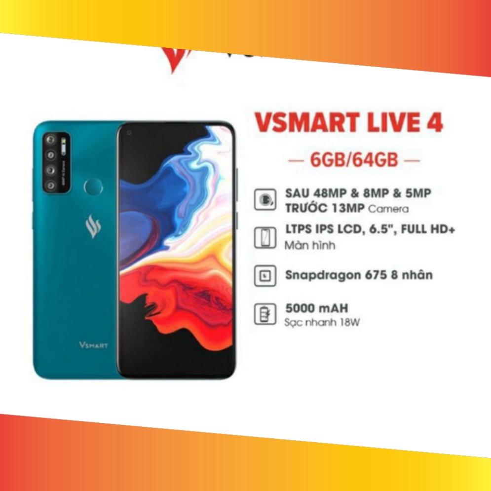 Điện Thoại Vsmart Live 4 6GB/64GB Fullbox Nguyên Seal Chính Hãng VLive4  Smartphone Rẻ-Đẹp