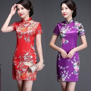 Đầm Sườn Xám Cách Tân Dáng Dài Vải Lụa Ôm Dáng Quyến Rũ Cho Nữ