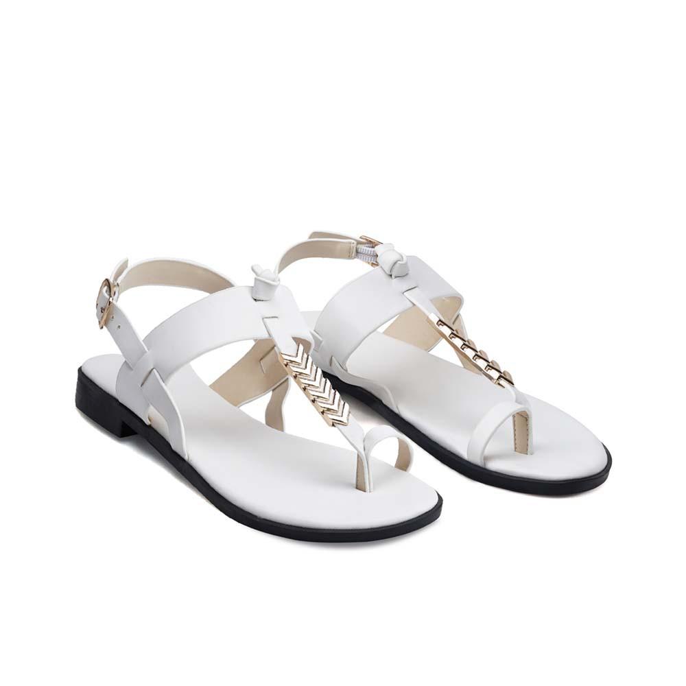 Juno - Giày sandal t-strap khóa trang trí SD