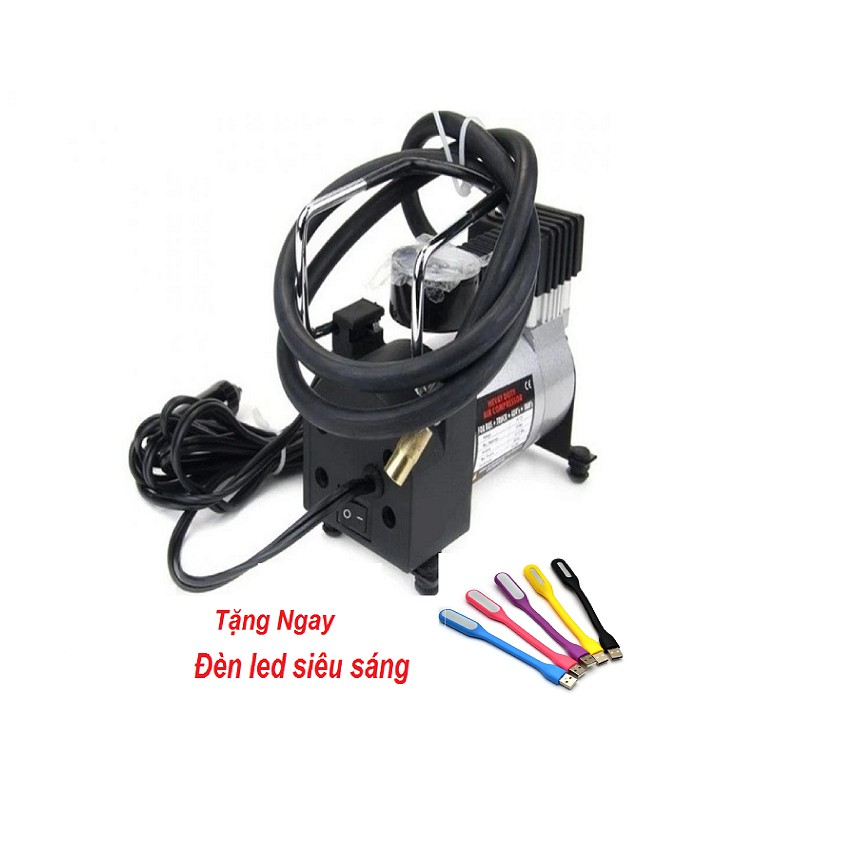 Máy bơm lốp ô tô HEVAY DUTY Air Compressor GDX-8638 + Đèn led siêu sáng