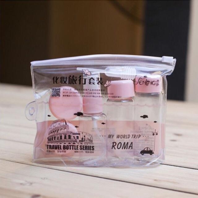 Bộ chiết mỹ phẩm Roma 5 món - 3503248 , 1054552414 , 322_1054552414 , 50000 , Bo-chiet-my-pham-Roma-5-mon-322_1054552414 , shopee.vn , Bộ chiết mỹ phẩm Roma 5 món