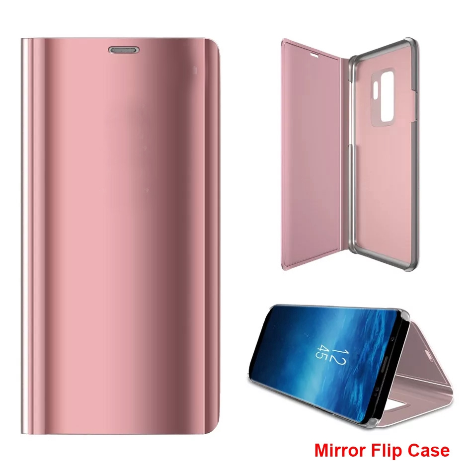 Oppo Realme X Lite C1 C2 2 Pro 3 Pro 5 Pro OPPO A3S AK1 Mirror Flip Case Phone Case Holder Folder Casing Cover