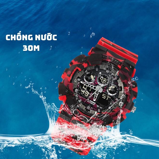 Đồng Hồ Nam Điện Tử Thể Thao Chính Hãng D-ZINER 8185 Rằn Ri Full Box - LINDO