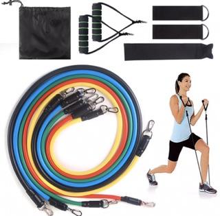 Bộ 05 dây ngũ sắc tập gym tại nhà – Bộ dây cao su đần hồi kháng lực ngũ sắc tập gym tại nhà tiện ích