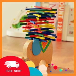 [ Đồ chơi trẻ em ] Đồ chơi gỗ giáo cụ Montessori – Voi cân bằng Tomcityvn