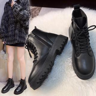 Giày Bốt Nữ Cổ Lửng Có Khóa Kéo G27
