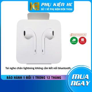 Tai nghe Lightning cho iPhone 7 [BẢO HÀNH 12 THÁNG]  Tai nghe lightning zin âm cực êm tương thích với tất cả các dòng IP