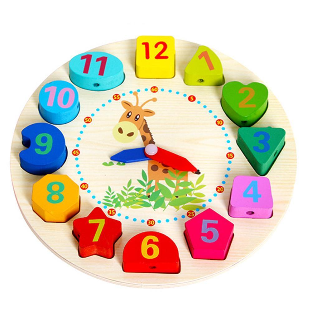 Đồng hồ báo thức bằng gỗ cho bé