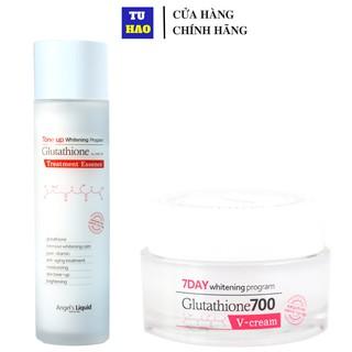 Bộ 2 Sản Phẩm Dưỡng Trắng Da 7DAY Angel s Liquid Whitening Program Gutathione 700V ( Toner & Kem Dưỡng) thumbnail