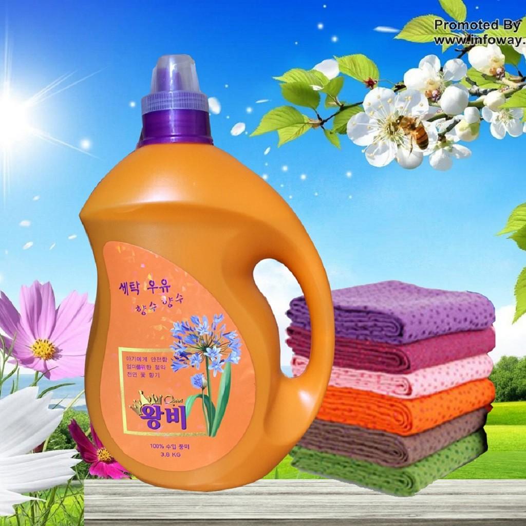 Hàn Quốc] Nước Giặt Xả Nữ Hoàng 9in1 (QUEEN 3,8L) (mùi thơm dùng ...