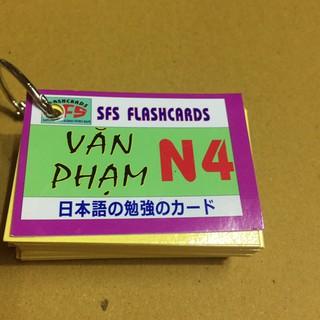 thẻ học tiếng nhật ngữ pháp n4