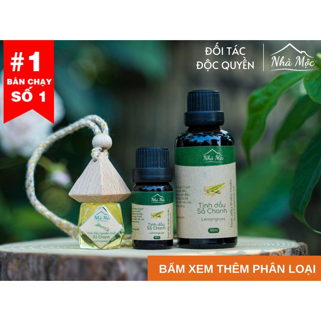 Tinh dầu thiên nhiên nguyên chất Nhà Mộc chai 10ml, 50ml, treo xe khử mùi, tạo hương thơm thư giãn