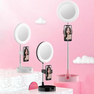 Gương trang điểm có đèn Led Livestream G3 tích hợp giá đỡ và kẹp điện thoại cao cấp