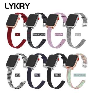 Dây đeo Lykry bằng vải nylon cho đồng hồ Apple 38mm 42mm 40mm 44mm thumbnail