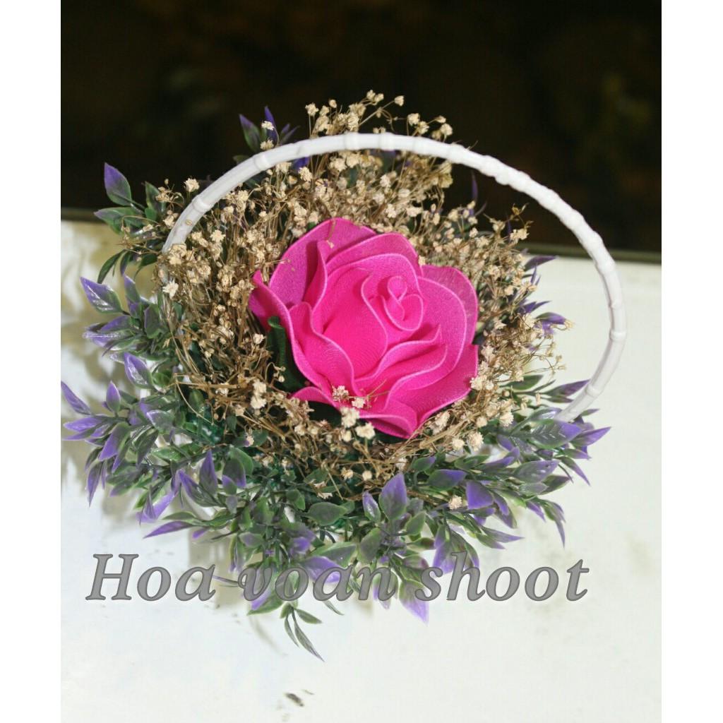 Hoa hồng voan 1bông